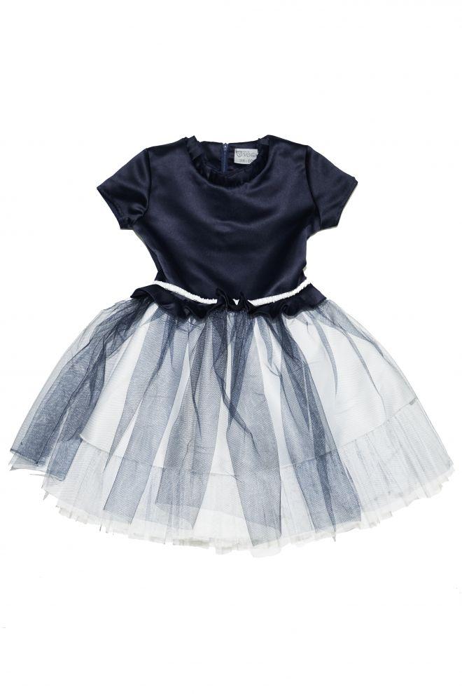 d72749b259ab Dievčenské modré spoločenské šaty Kids by Voga Italia